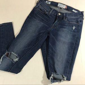 Lucky Brand Charlie skinny ankle white oak jeans